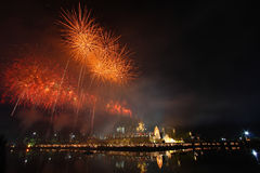 Fuochi d'artificio, Tailandia Fotografia Stock Libera da Diritti