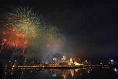 Fuochi d'artificio, Tailandia Immagine Stock Libera da Diritti