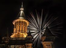Fuochi d'artificio in timisoara Fotografia Stock