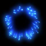 Fuochi d'artificio blu Immagine Stock