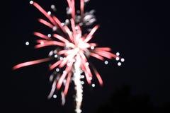 Fuochi d'artificio vaghi Fotografie Stock Libere da Diritti