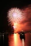 Fuochi d'artificio a Vancouver Immagini Stock Libere da Diritti