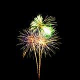 Fuochi d'artificio variopinti Immagine Stock Libera da Diritti