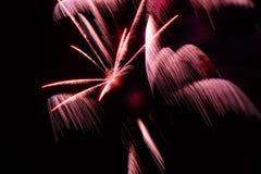 Fuochi d'artificio variopinti Fotografia Stock