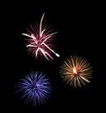 Fuochi d'artificio variopinti Immagini Stock