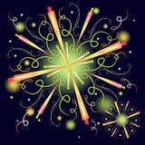Fuochi d'artificio variopinti astratti illustrazione vettoriale