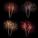 Fuochi d'artificio variopinti brillanti Immagini Stock
