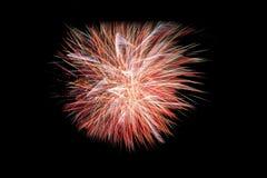 Fuochi d'artificio variopinti del buon anno 2016 sul cielo notturno Fotografie Stock