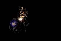 Fuochi d'artificio variopinti di celebrazione Immagini Stock