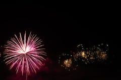 Fuochi d'artificio variopinti di celebrazione Fotografie Stock Libere da Diritti