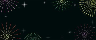 Fuochi d'artificio variopinti e fondo di celebrazione immagine stock
