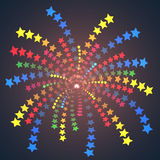 Fuochi d'artificio variopinti semplici delle stelle. Fotografia Stock