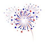 Fuochi d'artificio variopinti su fondo bianco Fotografia Stock
