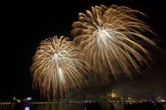 Fuochi d'artificio Venezia Immagini Stock Libere da Diritti