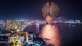 Fuochi d'artificio vicino Immagini Stock Libere da Diritti