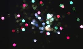 Fuochi dei fuochi d'artificio sfuocato Immagini Stock Libere da Diritti
