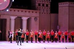 Fuochi dell'Anatolia Prestazione nell'anfiteatro dell'Anatolia Fotografia Stock Libera da Diritti