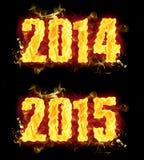 Fuoco 2014 2015 royalty illustrazione gratis