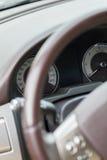 Fuoco automobilistico del cruscotto sul tachimetro Fotografia Stock Libera da Diritti