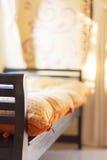 Fuoco basso su posto letto per ricoveri giornalieri Immagini Stock