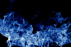 Fuoco blu immagine stock
