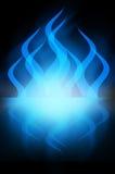 Fuoco blu scuro astratto Fotografia Stock Libera da Diritti