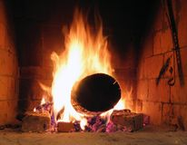 Fuoco Burning Fotografie Stock
