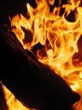 Fuoco - combustione di legno Immagini Stock Libere da Diritti