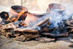 Fuoco-coocking tradizionale Immagine Stock