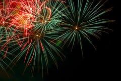 Fuoco d'artificio. Fotografie Stock