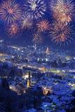Fuoco d'artificio 2010 di nuovo anno Fotografia Stock Libera da Diritti