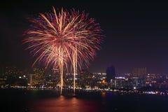 Fuoco d'artificio [A] Fotografie Stock Libere da Diritti