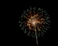 Fuoco d'artificio Fotografia Stock Libera da Diritti