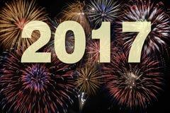 Fuoco d'artificio ai nuovi anni 2017 Immagini Stock