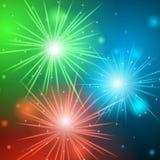 Fuoco d'artificio al neon Fotografia Stock Libera da Diritti