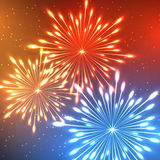 Fuoco d'artificio al neon Immagini Stock