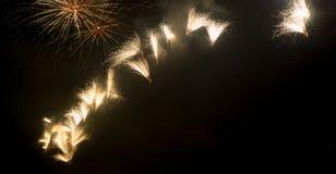 Fuoco d'artificio alla celebrazione di festa della città Immagine Stock Libera da Diritti