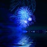 Fuoco d'artificio blu Fotografia Stock Libera da Diritti