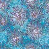 Fuoco d'artificio che disegna modello senza cuciture variopinto Fotografie Stock