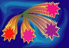 Fuoco d'artificio in cielo blu illustrazione di stock