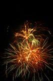 Fuoco d'artificio con lo spazio della copia Immagini Stock