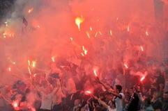 Fuoco d'artificio dei ultras Immagini Stock Libere da Diritti