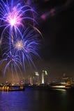 Fuoco d'artificio della baia di San Diego Fotografia Stock