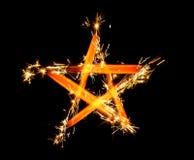 Fuoco d'artificio della stella di cinque punti Immagine Stock Libera da Diritti