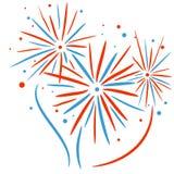 Fuoco d'artificio di festa Fotografia Stock Libera da Diritti