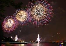 Fuoco d'artificio di festa dell'indipendenza Fotografia Stock