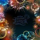 Fuoco d'artificio di festa di vettore Fotografia Stock Libera da Diritti