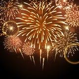 Fuoco d'artificio di festa di vettore Fotografia Stock