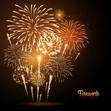Fuoco d'artificio di festa di vettore Fotografie Stock
