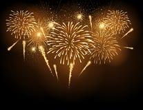 Fuoco d'artificio di festa di vettore Immagini Stock